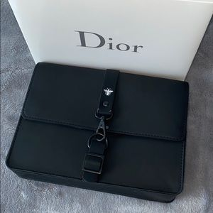 NIB authentic Dior Bee vegan matte leather pouch